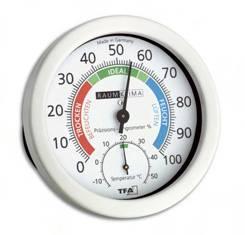 witte comfortmeter van TFA met hygro en thermometer