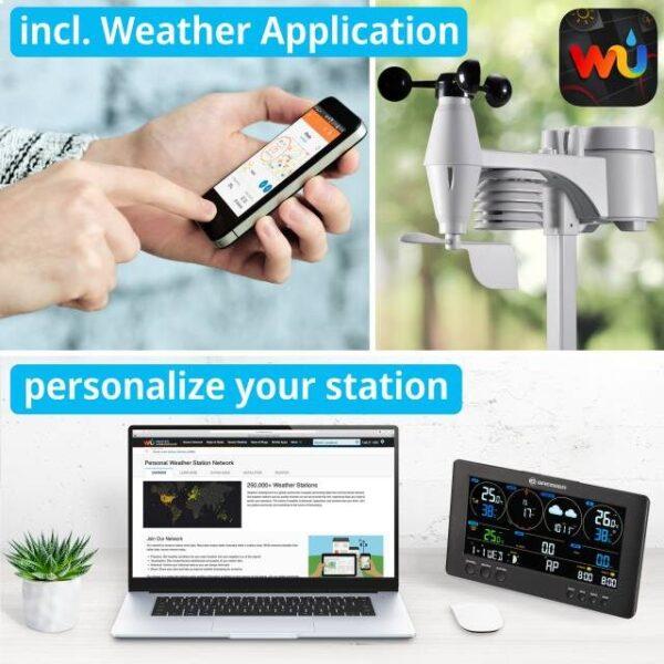 Bresser weerstation Wifi Clearview met eigen weer applicatie. Personaliseer je eigen weer app.