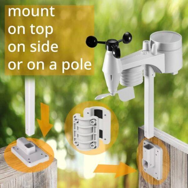 Bresser wifi clearview weerstation sensor en hoe hij bevestigd kan worden.