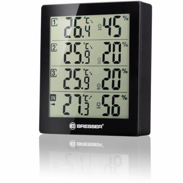 BRESSER Temeo Hygro Quadro - Thermometer en Hygrometer voorkant met Bresser logo