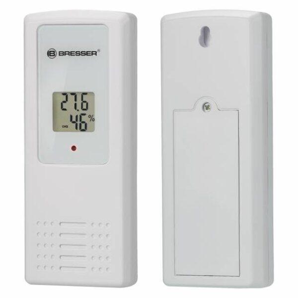 BRESSER Temeo Hygro Quadro - Thermometer en Hygrometer witte sensoren voor en achterkant